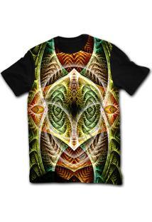 Camiseta Manga Curta Stompy Psicodelica 57 Preto