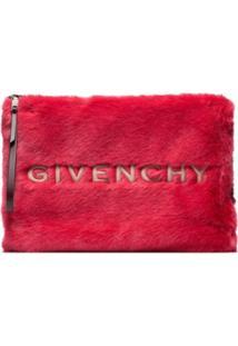 Givenchy Clutch Com Logo - Vermelho