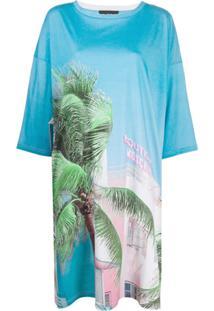Boutique Moschino Vestido Com Estampa De Palmeira - Branco