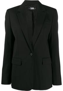 Karl Lagerfeld Jaqueta De Alfaiataria - Preto