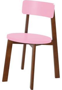 Cadeira Lina Cor Cacau Com Rosa Cristal - 35855 Sun House