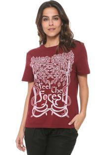 Camiseta Cantão Forest Vinho