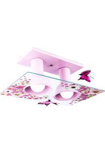 Plafon Floral 80W - Startec - Rosa