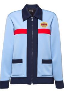 Miu Miu Techno Jersey Jacket - Azul