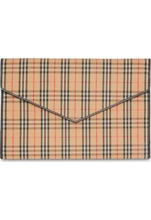 Burberry Large 1983 Check Pouch - Neutro
