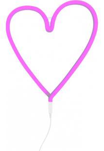 Luminária Neon Adoraria Coração Rosa