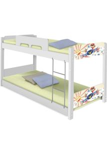 Beliche Baixa Adesivada Patrulha Ursinhos Casah - Branco/Multicolorido - Menino - Dafiti