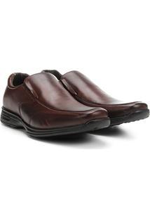 Sapato Social Couro Walkabout Prado - Masculino-Marrom Escuro
