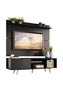 Rack Madesa Dubai E Painel Para Tv Até 65 Polegadas Com Pés Preto/Branco