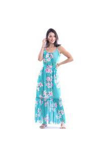 Vestido Fernanda Ramos Longo Azul