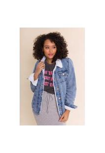 Jaqueta Jeans Forrada Alongada Scarlet