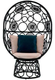 Cadeira De Corda Pina Preta - Incolor - Dafiti