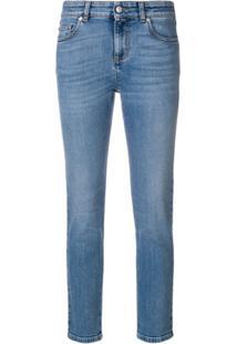 Alexander Mcqueen Calça Jeans Skinny Cropped - Azul