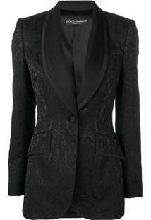 Dolce & Gabbana Blazer Com Padronagem - Preto