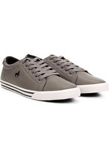 Sapatênis Polo Royal Básico Masculino - Masculino-Cinza+Branco