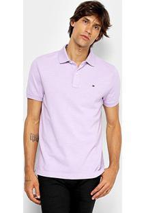 Camisa Polo Tommy Hilfiger Básica Masculina - Masculino-Lilás