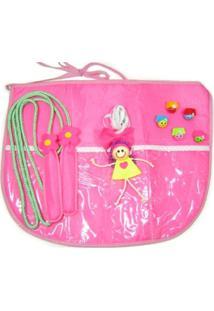 Avental De Brincadeiras Kits E Gifts Corda, Elástico E 3 Marias Rosa