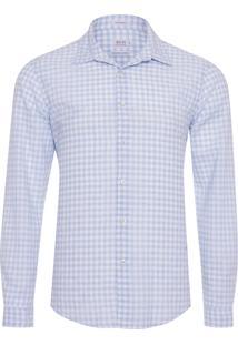 Camisa Masculina Linho Antibes - Azul