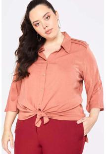 Camisa Almaria Plus Size Garage Renda Vermelho