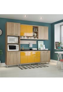 Cozinha Completa Guarinos 12 Pt 3 Gv Argila E Amarelo