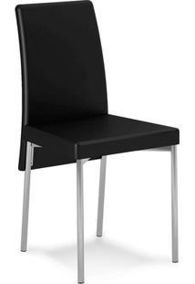 Cadeira Cromada La Bouche Couríssimo Preta