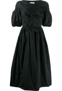 Molly Goddard Vestido Com Detalhe De Nó - Preto