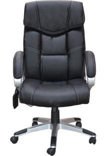 Cadeira De Escritório Gran Belo Home Office Ceuta Giratória Com Massagem Pu Preta