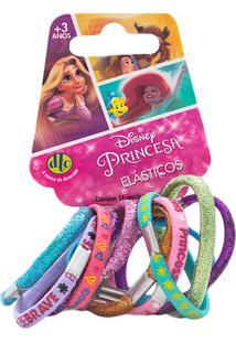 Prendedor De Cabelo Elástico Princesa Disney Dtc Cores Sortidas Com 11 Unidades