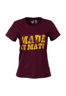 Tshirt Estampada Made In Mato Vermelho Cravo Multicolorido