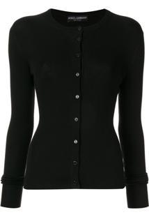 Dolce & Gabbana Button-Front Cardigan - Preto