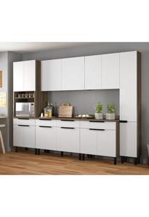 Cozinha Compacta Itamaxi Ii 14 Pt 4 Gv Branca E Castanho