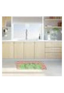 Tapete De Cozinha Mdecore Cactos Rosa 40X60Cm