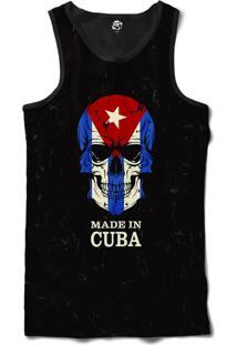 Regata Bsc Caveira País Cuba Sublimada Preto