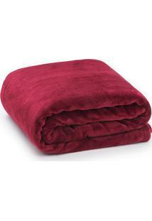 Cobertor Solteiro Microfibra - Loani - Bordô