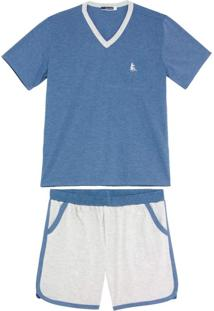 Pijama Masculino Lua Cheia Bermuda Mescla