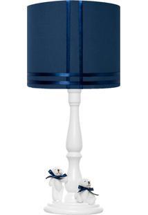 Abajur Carambola Bernardo Azul Marinho