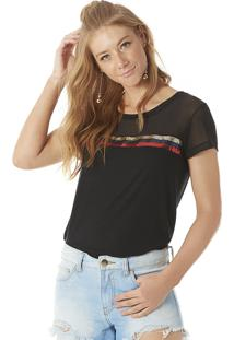 Camiseta Paetês Serinah Brand Preta