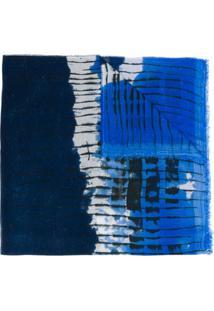 Faliero Sarti Echarpe Com Estampa Tie-Dye - Azul