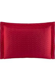Porta Travesseiros Microfibra - Vermelho