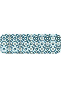 Passadeira Love Decor Wevans Ladrilho Português Azul