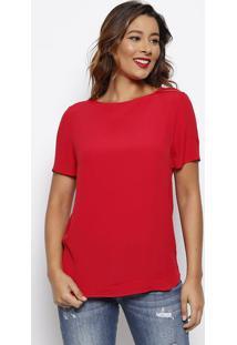 Camiseta Lisa Com Tag - Vermelha - Forumforum