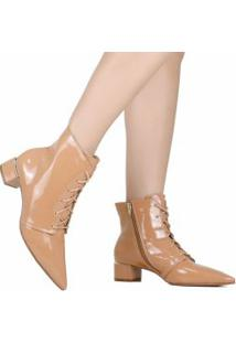 Bota Zariff Shoes Ankle Boot Verniz