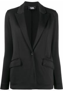 Karl Lagerfeld Blazer Rue St-Guillaume De Jérsei - Preto