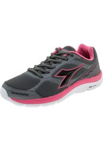Tênis Strong Diadora - 125606 Cinza/Rosa