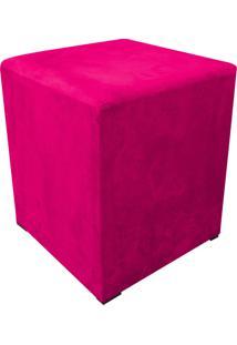 Puff Decorativo Dado Quadrado Suede Pink - D'Rossi