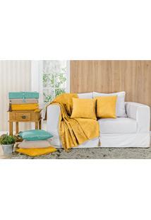 Xale Para Sofá Glamour 5 Peças - Amarelo