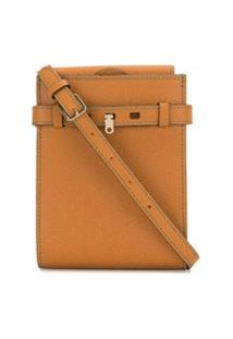 Valextra Small Brera Crossbody Bag - Marrom