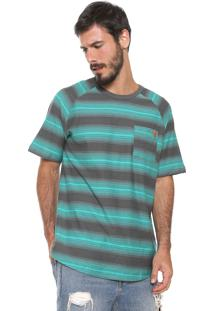 Camiseta ...Lost Raglan Degrade Krew Cinza/Verde