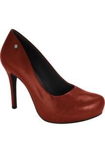 ab5a5a9d7 ... Sapato Tradicional- Vermelho Escuro- Salto: 10Cmramarim