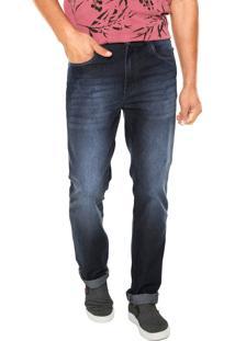 Calça Jeans Malwee Slim Tradiocional Azul